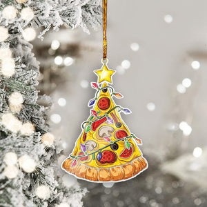 Pizza Christmas Tree Mica Ornaments