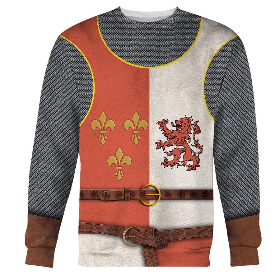 Gearhomies 3D Custom Shirt Hoodies Heraldic Knight Apparel Long Sleeves / S Co122020