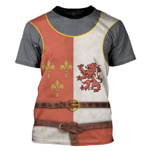 Gearhomies 3D Custom Shirt Hoodies Heraldic Knight Apparel T-Shirt / S Co122020
