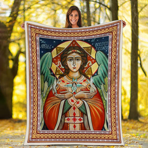 The Angel of Blessed Silence Blanket