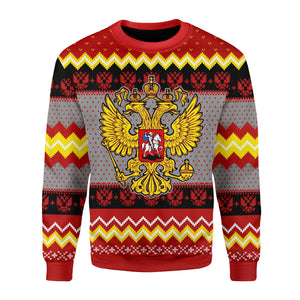 Russia Coat Of Arms Ugly Sweater