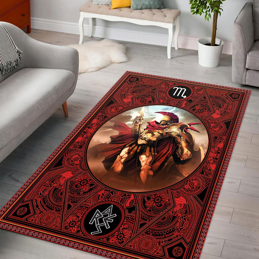 Greek Mythology Ares Scorpius Zodiac Rug