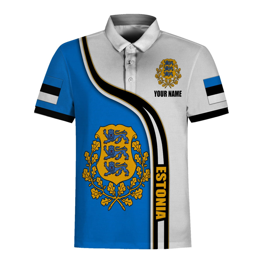 Estonia Polo Coat of Arms Shirt