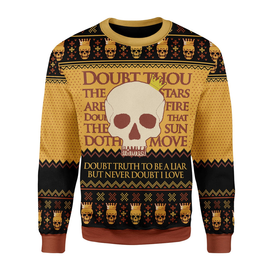 Hamlet William Shakespare Ugly Christmas Sweater