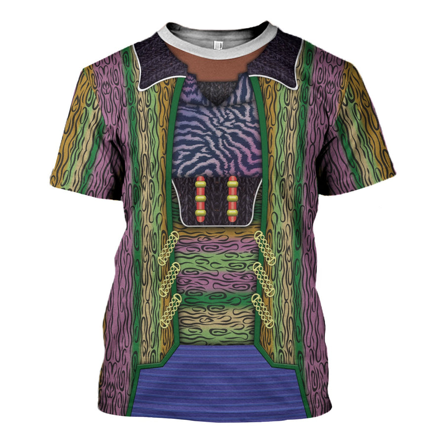 ST DSN Ferengi Quark Purple Zebra Striped Costume
