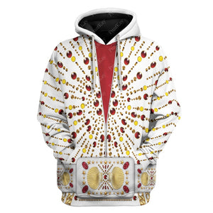 All Over Printed Elvis Performance Suit Hoodie / S El18220