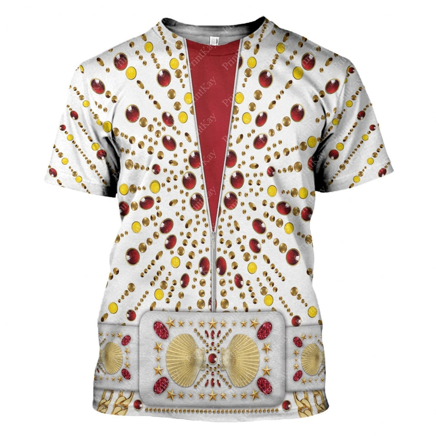 All Over Printed Elvis Performance Suit T-Shirt / S El18220