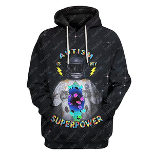 Autism Is My Superpower Awareness Hoodie / S Au-12241901