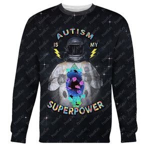 Autism Is My Superpower Awareness Long Sleeves / S Au-12241901