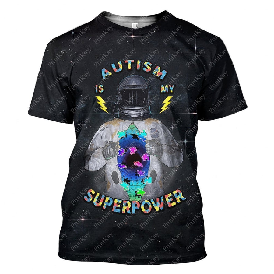 Autism Is My Superpower Awareness T-Shirt / S Au-12241901