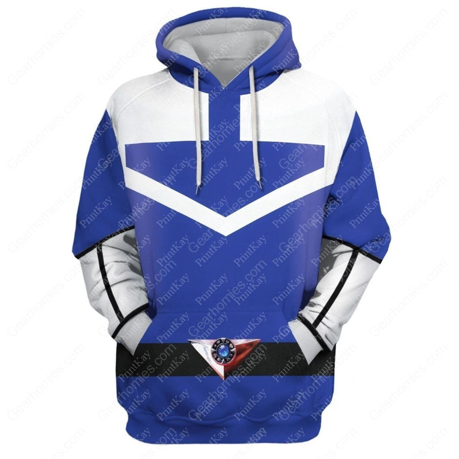 Blue Power Rangers Time Force Hoodie / S Qm186