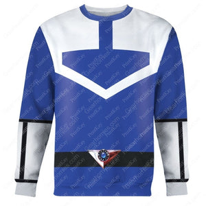Blue Power Rangers Time Force Long Sleeves / S Qm186