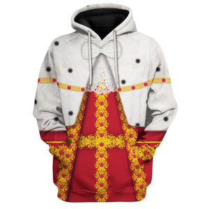 All Over Printed King George Hamilton Hoodie / S George20120