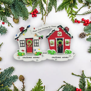 Sweet Home 2020 Personalized Christmas Tree Mica Ornaments