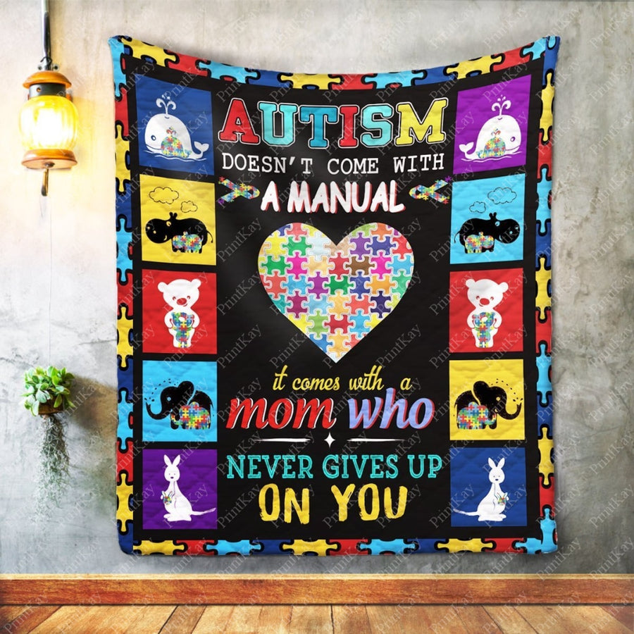 Custom Quilt Autism Doesnt Come With A Manual Throw