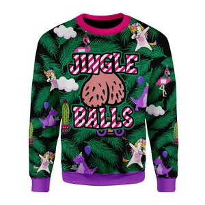 Jingle Balls Funny Ugly Christmas Sweater