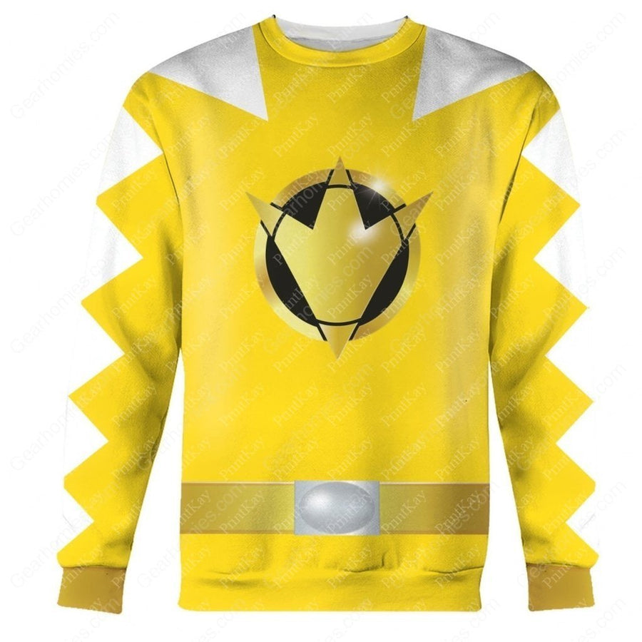 Dino Thunder Yellow Long Sleeves / S Qm113