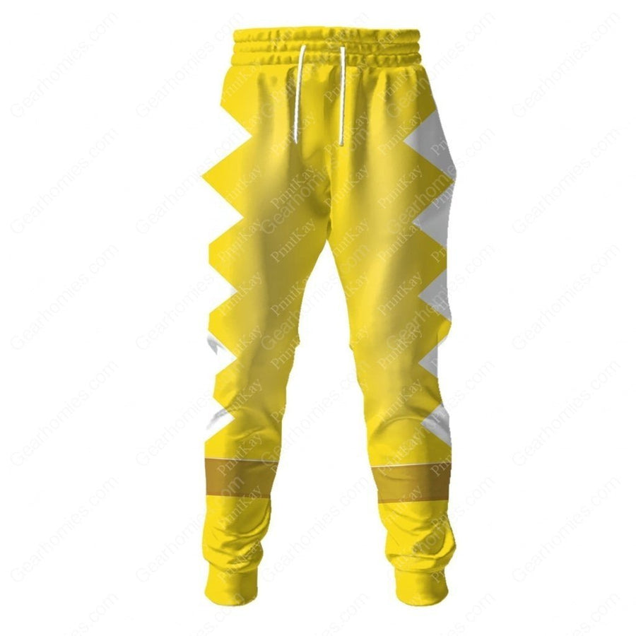Dino Thunder Yellow Sweatpants / S Qm113