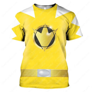 Dino Thunder Yellow T-Shirt / S Qm113