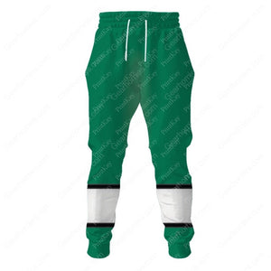 Green Power Rangers Time Force Sweatpants / S Qm178