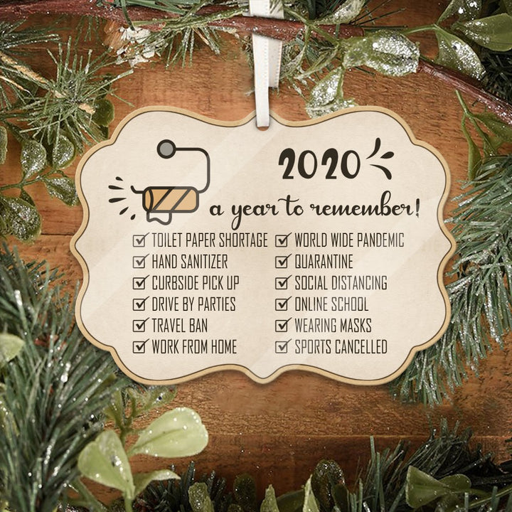 2020 A Year To Remember Ornament