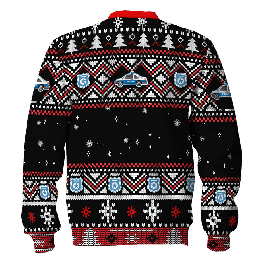 Santa Claus Christmas Riot Police Ugly Sweater