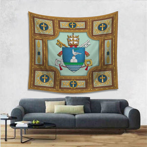 Pope Francis Coat Of Arms Tapestry