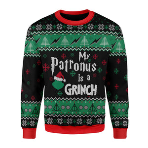 My Patronus Is A Grinch Ugly Christmas Sweater