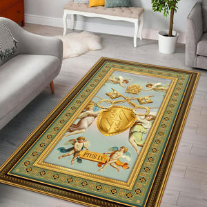 Pius IX Coat of Arms Rug