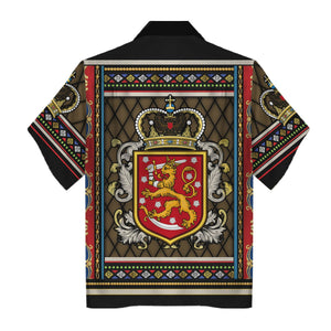 Coat of arms of Finland Hawaiian Shirt