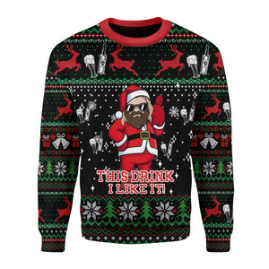Thor Drinking Beer Ugly Sweater