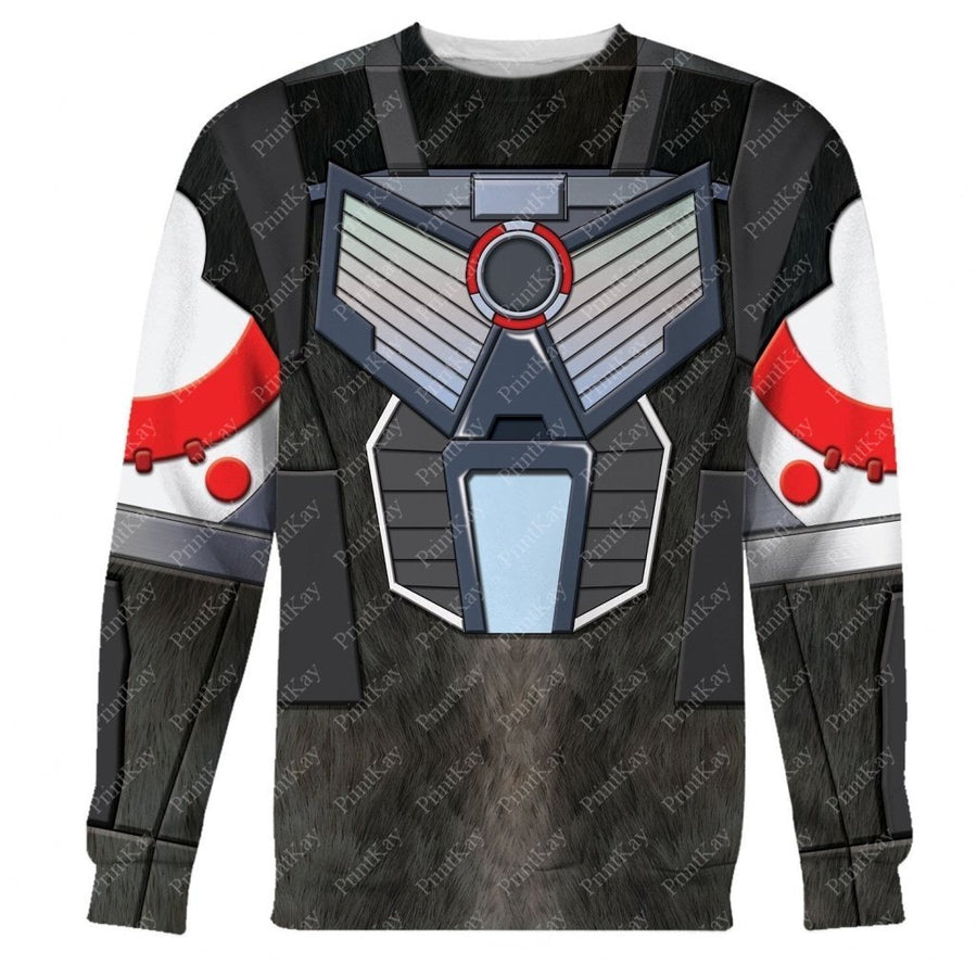 Optimus Primal Beast Wars Long Sleeves / S Qm03L