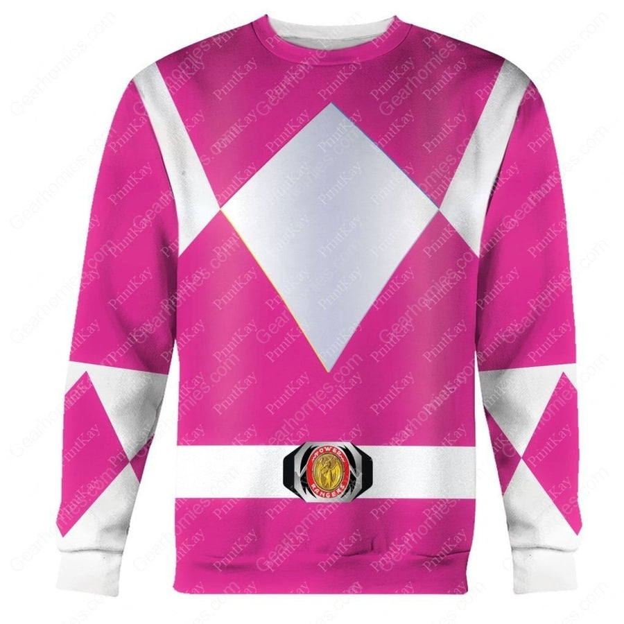 Pink Mighty Morphin Long Sleeves / S Qm43