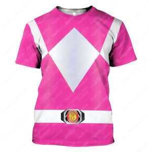 Pink Mighty Morphin T-Shirt / S Qm43
