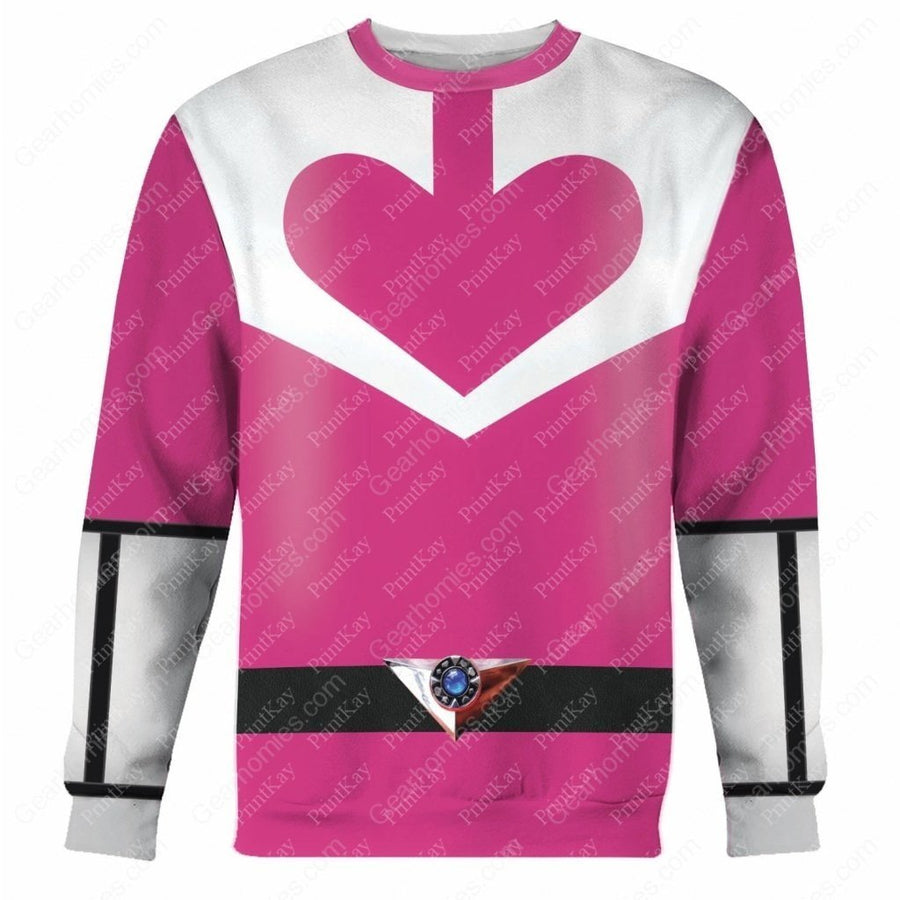 Pink Power Rangers Time Force Long Sleeves / S Qm177