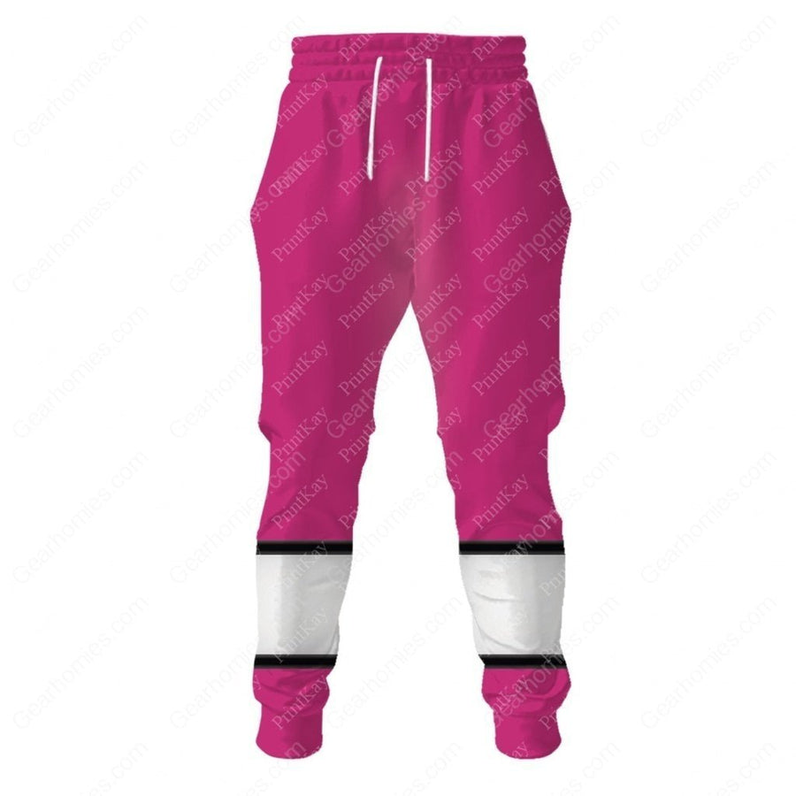Pink Power Rangers Time Force Sweatpants / S Qm177