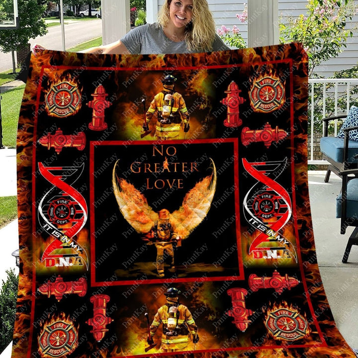 Quilt No Greater Love Firefighter