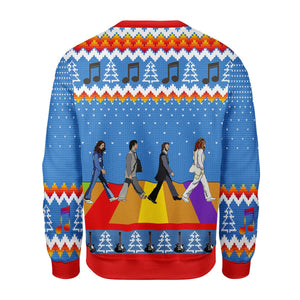 The Beatles Hippie Style Ugly Christmas Sweater