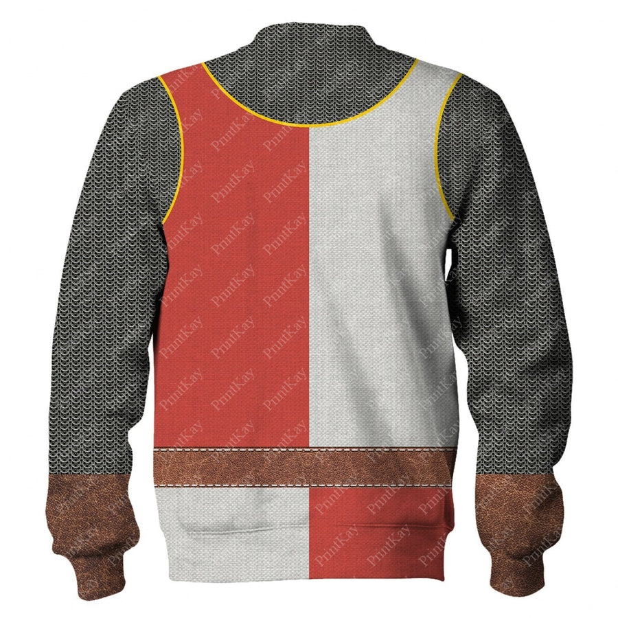 Red White Medieval Knight Cosplay All Over Print Cos001Redwhite