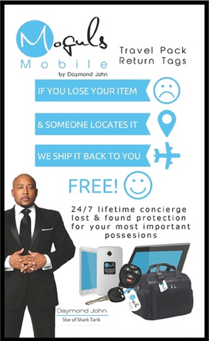 Moguls Mobile by Daymond John Locator Lost and Found Return Tags Mobile devices & Luggage & Keys