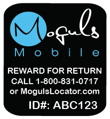 Moguls Mobile by Daymond John from Shark Tank Locator Lost and Found Return Tags Mobile devices