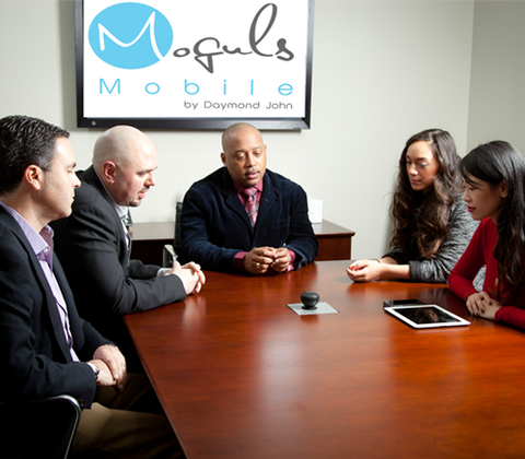 Moguls Mobile conferencer by Daymond John used for Conference Room Calls