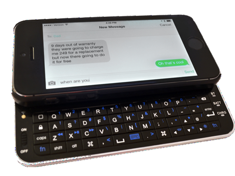 Moguls Mobile by Daymond John Magneti Magnetic Bluetooth Keyboard for iPhone 5s