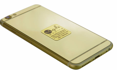 Moguls Locator Gold Lost and Found Mobile Phone Return Tag