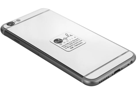 Moguls Locator Platinum / Silver Lost and Found Mobile Phone Return Tag