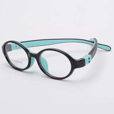 New Arrival Flexible Boy Girl  Ultra-light Silica Gel Kids Optical Eyeglasses Frames Children's Myopic Glasses Frame Hyperopia