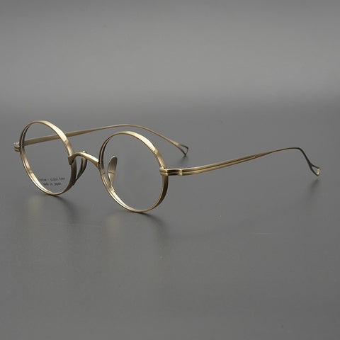 Titanium Round Glasses Men Vintage Gold Glasses Frame Women Myopia Optical Prescription Eyeglasses Frames Clear Eyewear Oculos