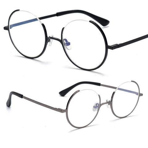 Unique Creative Design Eyeglasses Men Retro Round Optical Myopia Prescription Glasses Frame Women Spectacles oculos de grau
