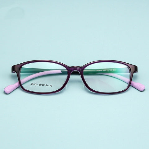 Blue Acetate Glasses Child Frame Optical Myopia Eyeglasses Frames Girls Transparent Cute Eyewear Frame Kids Brand