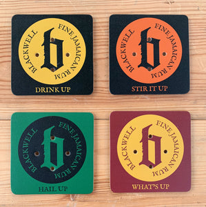Blackwell Rum Leather Coasters | Pack of Four